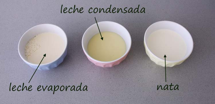 Ingredientes de la salsa tres leches
