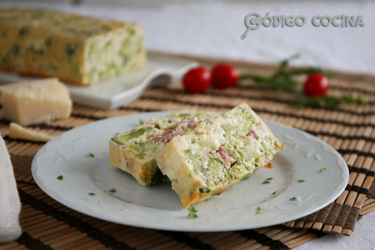 Pastel de brócoli y beicon