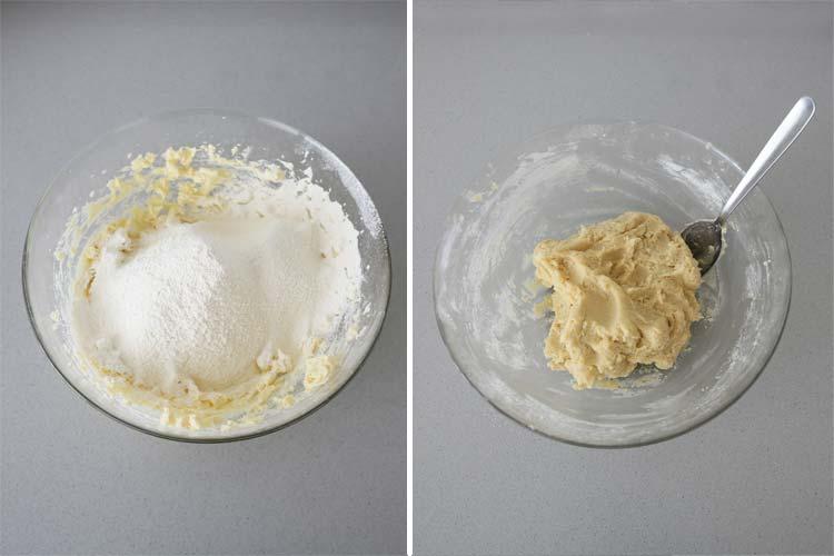 Incorporar la harina tamizada
