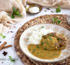 Tournedó de cordero con salsa de curry