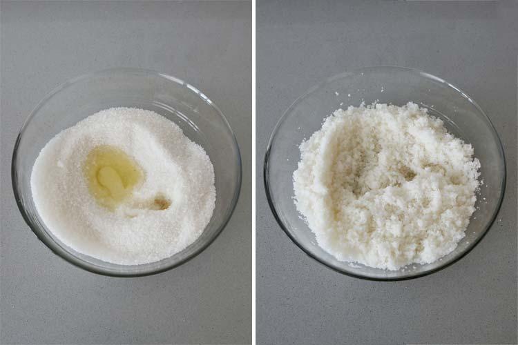 Mezclar la sal con la clara de huevo y el zumo de limón