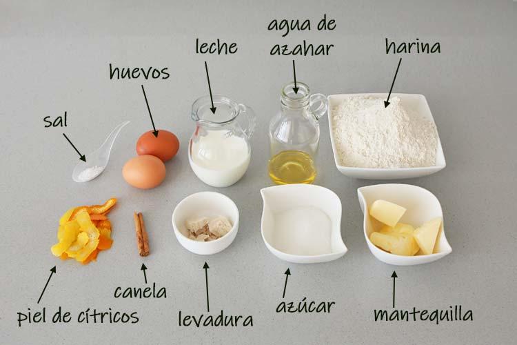 Ingredientes para hacer Roscón de Reyes