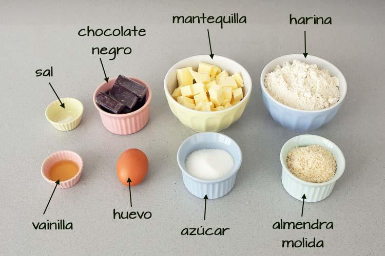 Ingredientes para hacer galletas de almendra