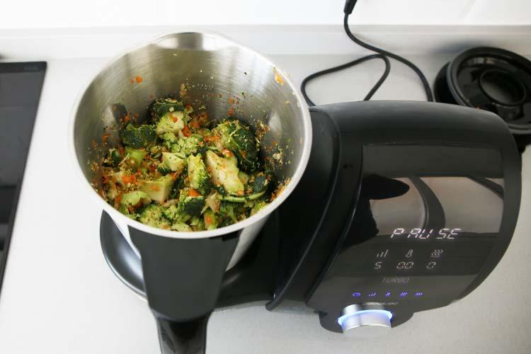 Triturar las verduras