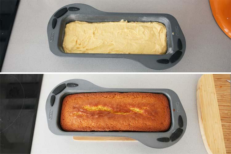 Vierte la masa del bizcocho en el molde