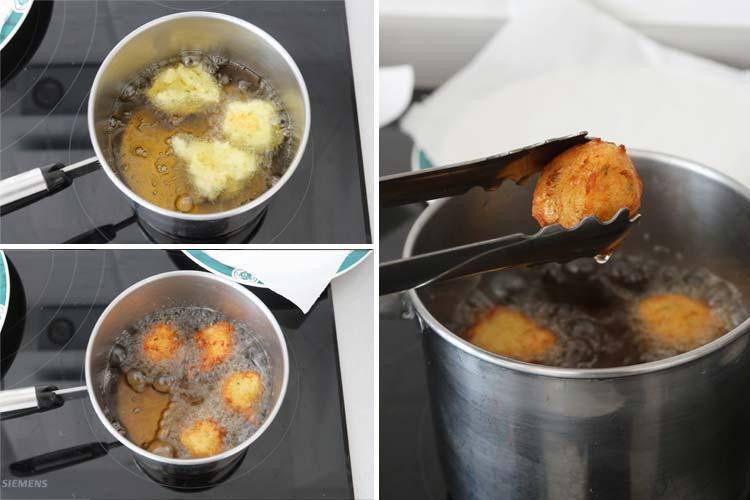 Freír los buñuelos