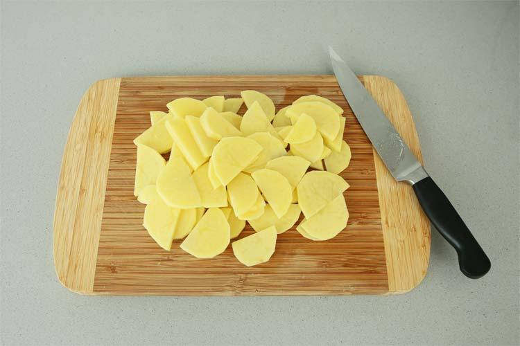 Cortar las patatas