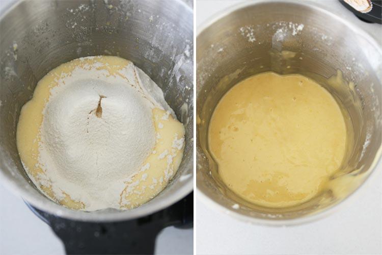 Incorpora la harina, la levadura y la sal