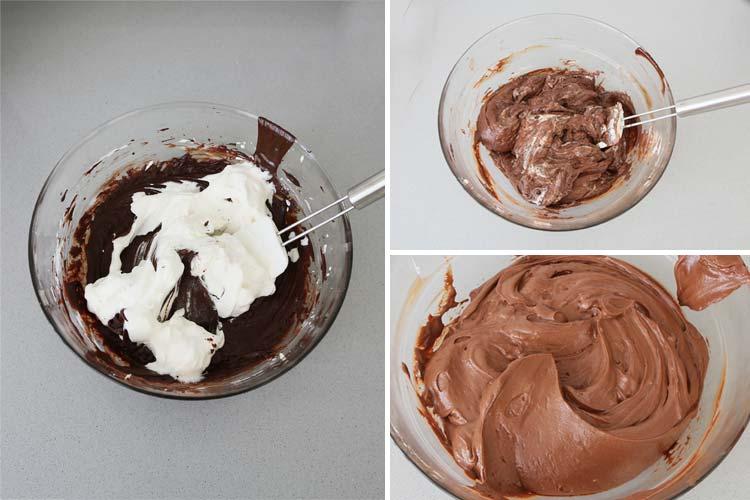 Incorporar la nata a la crema de la cheesecake