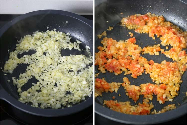 Sofrito salsa de albóndigas