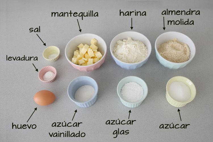 Ingredientes galletas de vainilla o vanillekipferl