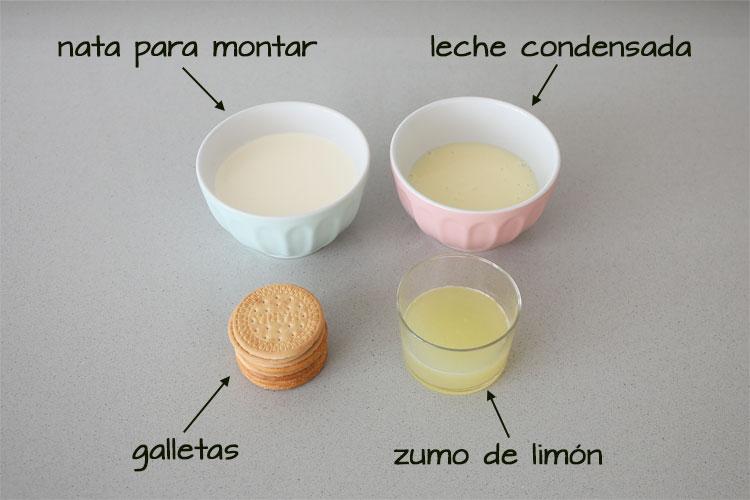Ingredientes para hacer mousse de limón