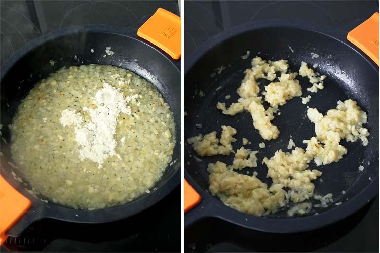 Echar una cucharada de harina y cocinar unos minutos