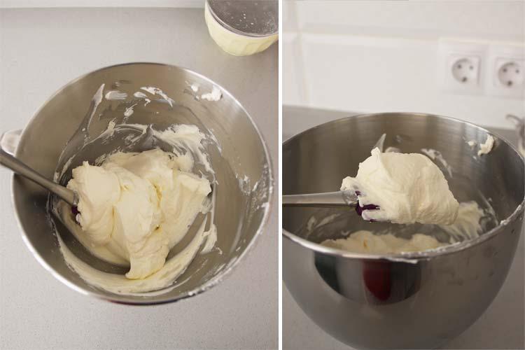 mezclar nata cobertura queso