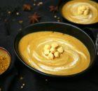 Crema de lentejas con curry y leche de coco