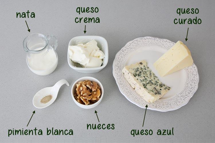 Ingredientes para hacer paté de quesos con Mambo