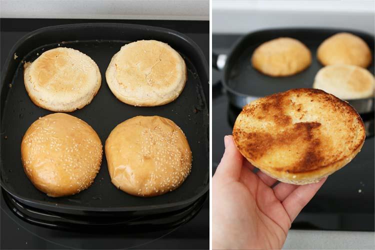 pan de hamburguesa tostado