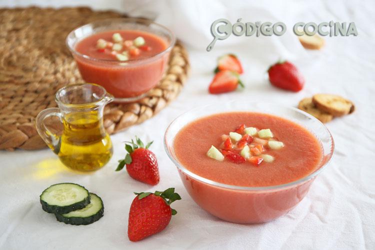 Gazpacho de fresa receta