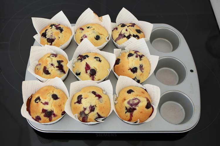 Hornear los muffins