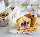 Muffins esponjosos de arándanos