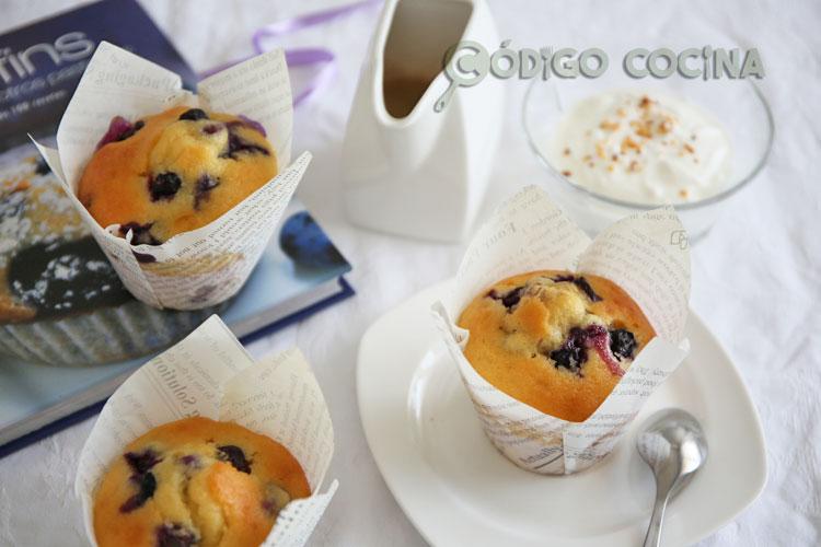 Muffins de yogur y arándanos
