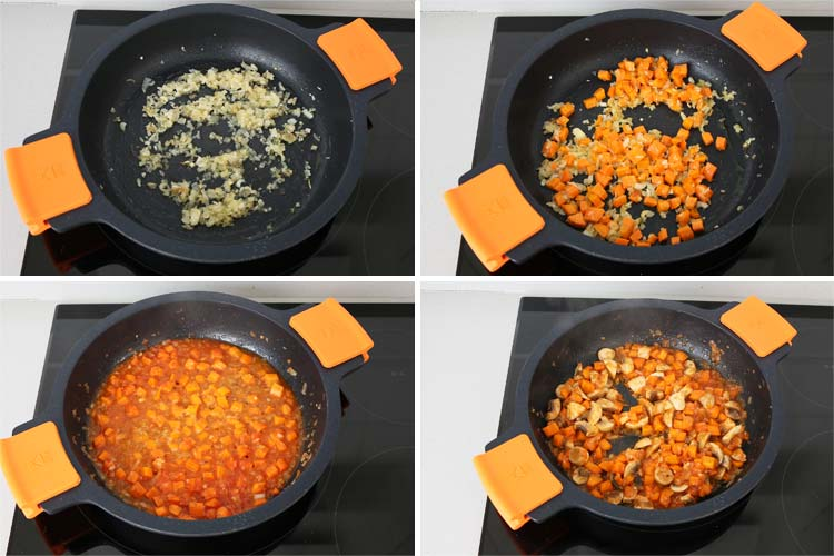sofrito para hacer salsa de albóndigas
