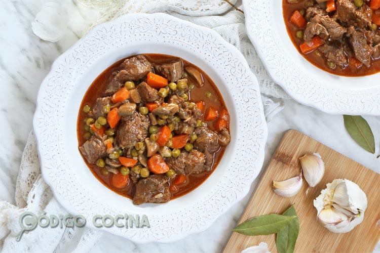 Estofado de ternera receta tradicional