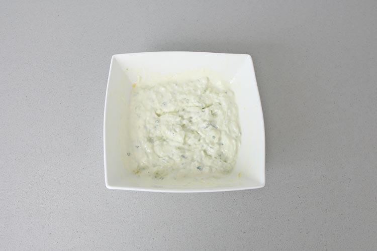 salsa yogur y pepino