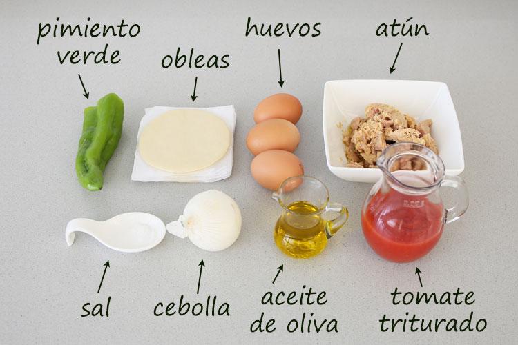 Ingredientes para hacer empanadillas de atún y huevo fáciles