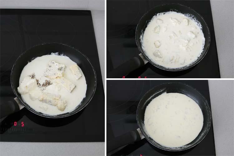 salsa de queso gorgonzola