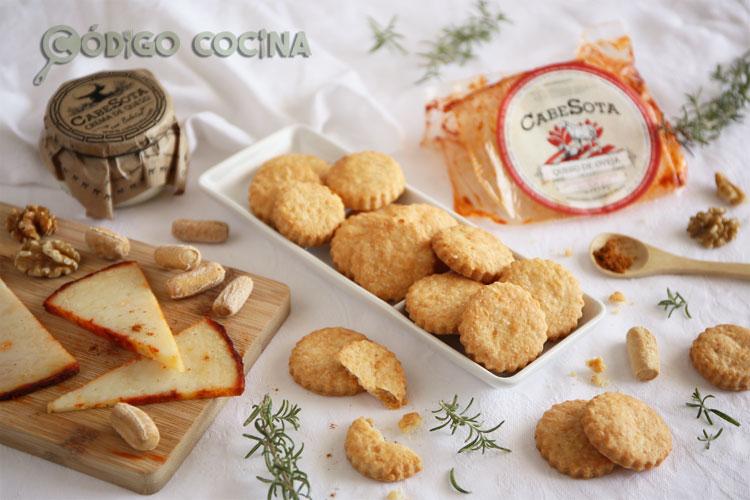 Galletas de queso curado