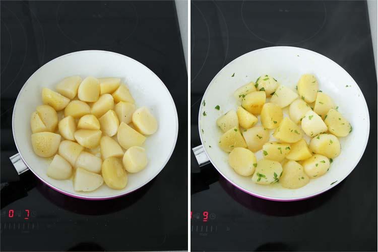 Patatas salteadas con mantequilla