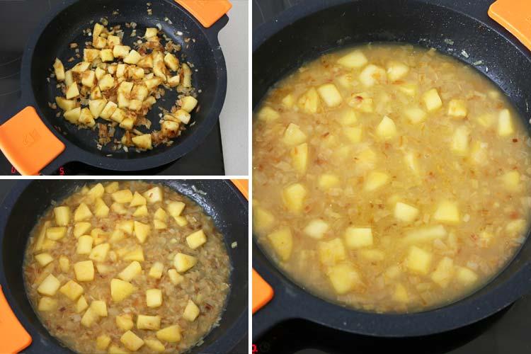 Salsa con sidra y manzana
