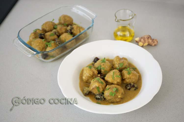 albóndigas al curry receta fácil