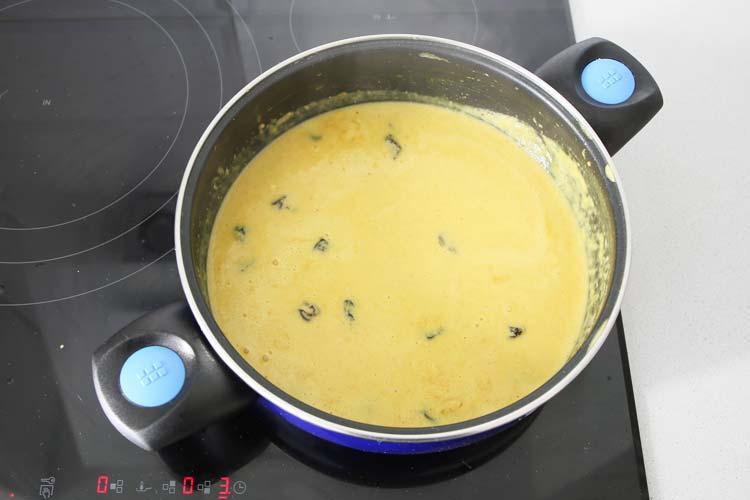 salsa de curry con leche de coco
