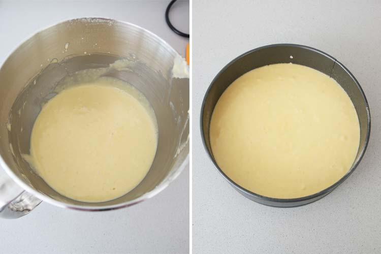 Masa para hacer bizcocho de nata