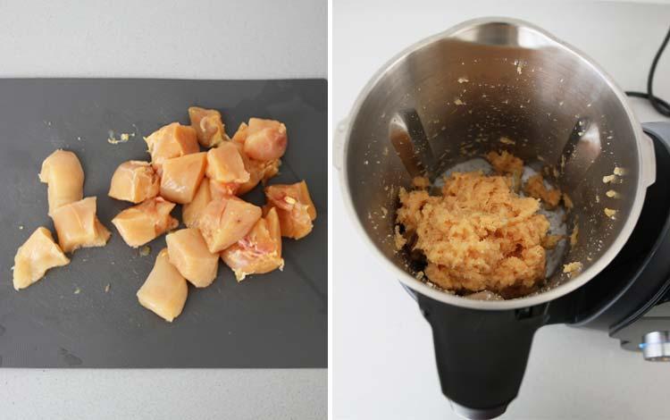 Triturar pollo con Mambo