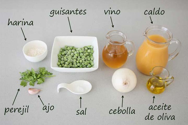Ingredientes para hacer salsa de albóndigas de pescado