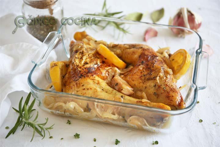 Pollo al horno con limón, receta fácil