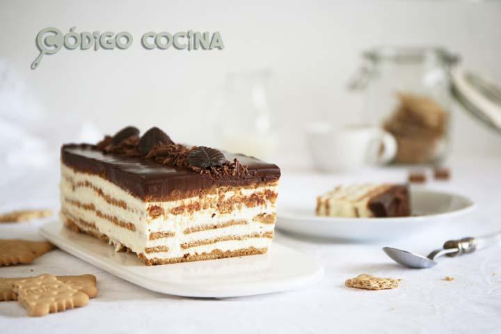 Tarta de galletas, mascarpone y chocolate