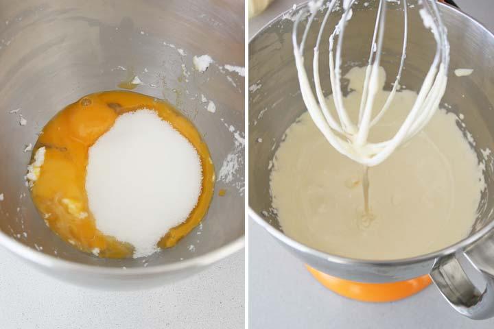 Batir las yemas junto con el azúcar