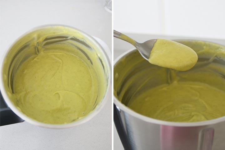 Triturar crema de calabacín